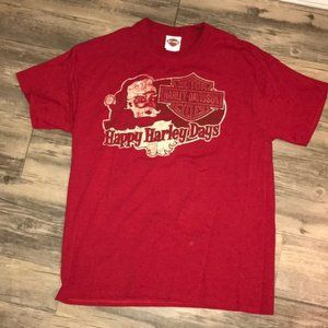 Harley Davidson Happy Harley Days Christmas Tee